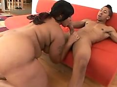 Lustful ebony fatty gets slammed