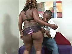 Stud takes care of big ebony chick