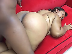 Black BBW fits a dick inside of her snatch