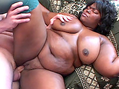 Large black chick gets a white stud nailing her