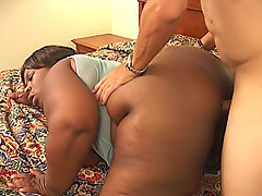 Black fattys tight pussy gets drilled