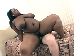 Big & Curvy ebony Crystal Clear finds herself in a hot steamy situation with her white boyfriend plowing her chocolate pussy