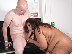 Demanding BBW boss has her deep damp holes pounded by a desperate job candidate