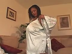 Lustful ebony plump cutie gets slammed