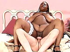 Ebony BBW knows how to handle cock