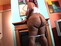 Black fatty masturbates on floor